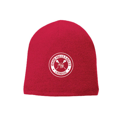 IF LAX – Fleece-Lined Beanie Cap (Athletic Red)