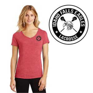 IF LAX – Women's Perfect Tri V-Neck Tee (Red Frost)