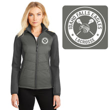 Load image into Gallery viewer, IF LAX – LADIES Hybrid Soft Shell Jacket (Smoke Grey / Grey Steel)
