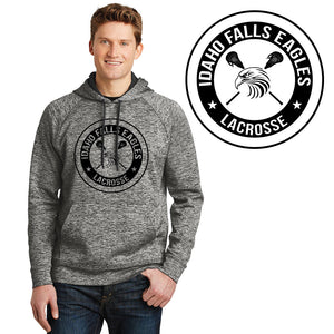 IF LAX – Moisture-wicking Electric Fleece Hooded Pullover (Black Electric)
