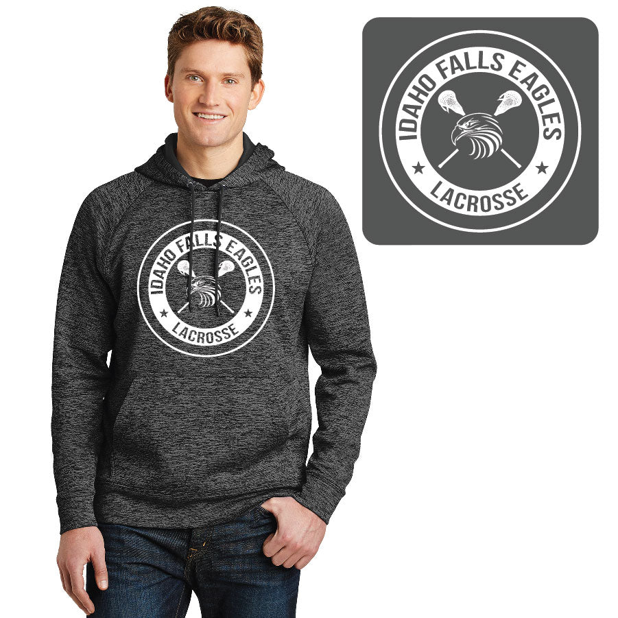 IF LAX – Moisture-wicking Electric Fleece Hooded Pullover (Grey-Black)