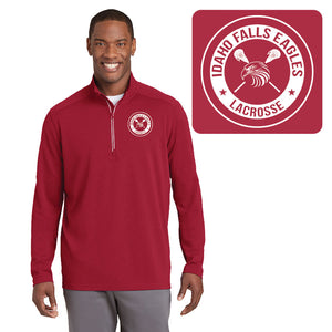 IF LAX – Sport-Wick Textured 1/4-Zip Pullover (Deep Red)