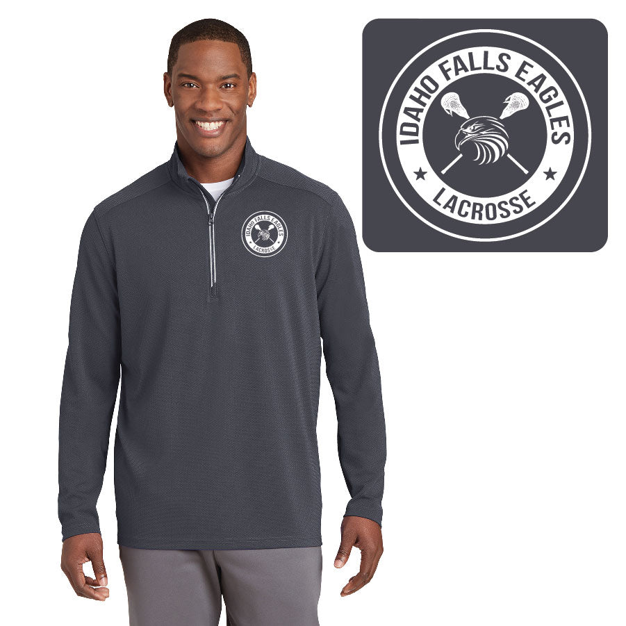 IF LAX – Sport-Wick Textured 1/4-Zip Pullover (Iron Grey)