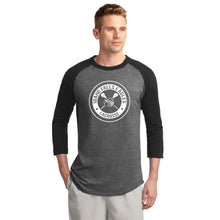 Load image into Gallery viewer, IF LAX – Colorblock Raglan Jersey Tee (Dark Heather Grey/Black)