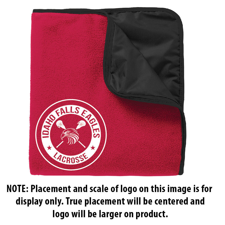 IF LAX – Fleece & Poly Travel Blanket (Red/Black)