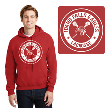 Load image into Gallery viewer, IF LAX – Heavy Blend Hooded Sweatshirt (Red)