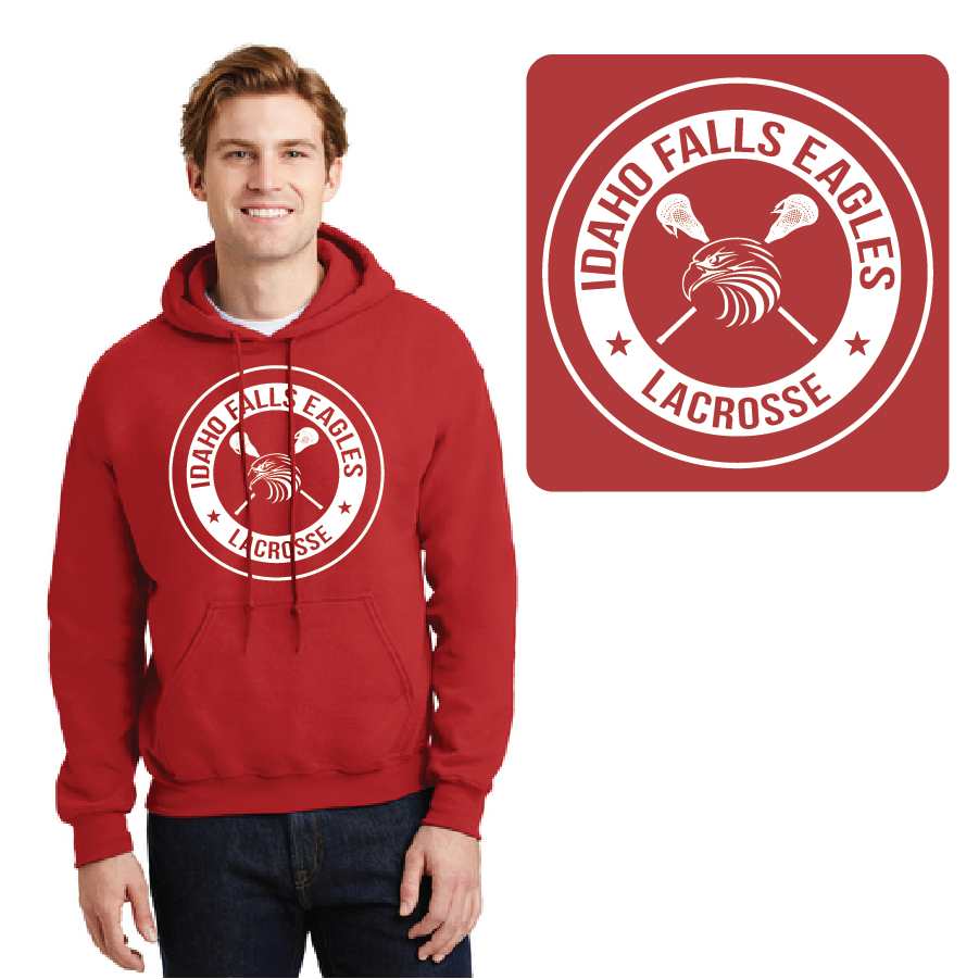 IF LAX – Heavy Blend Hooded Sweatshirt (Red)