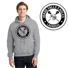 Load image into Gallery viewer, IF LAX – Heavy Blend Hooded Sweatshirt (Sport Grey)