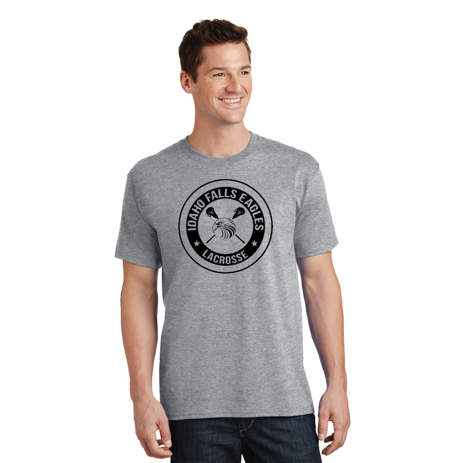IF LAX – Core Cotton Tee (athletic heather grey)