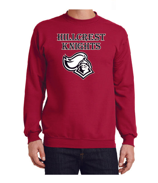 KNIGHTS Core Fleece Crewneck Sweatshirt in Red