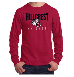 KNIGHTS Long Sleeve - Core Cotton Tee in Red