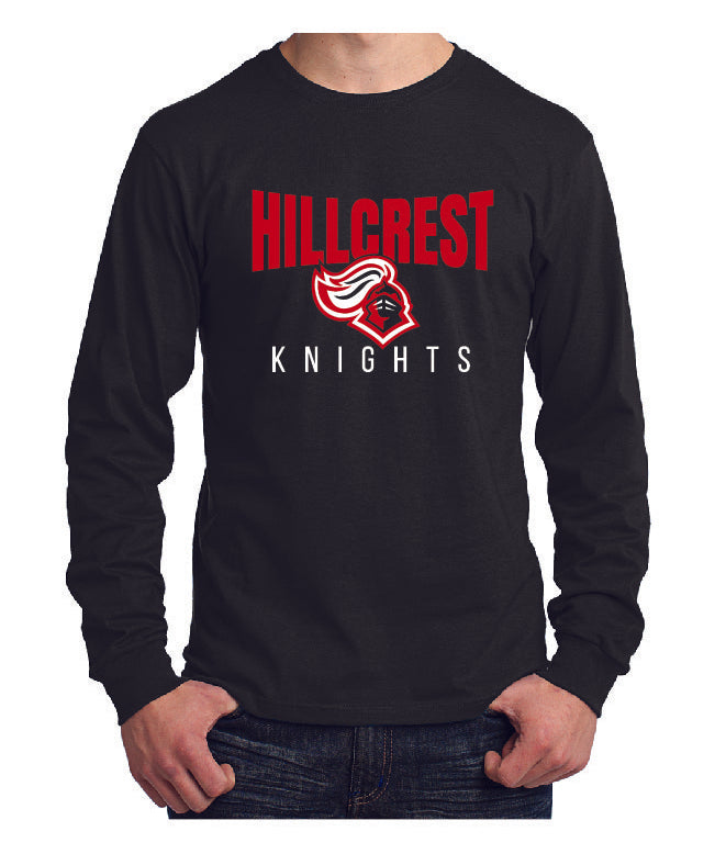 KNIGHTS Long Sleeve - Core Cotton Tee in Black