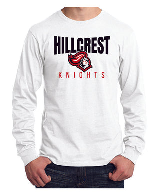 KNIGHTS Long Sleeve - Core Cotton Tee in White
