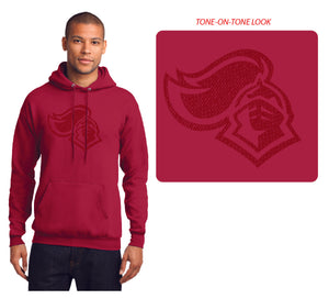 KNIGHTS Core Fleece Pullover Hooded Sweatshirt in Red