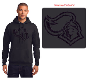 KNIGHTS Core Fleece Pullover Hooded Sweatshirt in Black