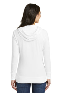 TRHS BASEBALL – Ladies Sueded Cotton Blend Full-Zip Hoodie (White)