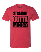 "Load image into Gallery viewer, MINICO HS – ""Straight Outta Minico"" Fitted Crew Tee (various colors)"