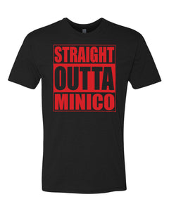 "MINICO HS – ""Straight Outta Minico"" Fitted Crew Tee (various colors)"