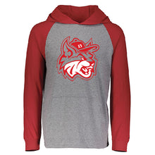 Load image into Gallery viewer, MadCats Baseball – Russell Lightweight Moisture-Wicking Essential Hoodie (Oxford Grey/Red)