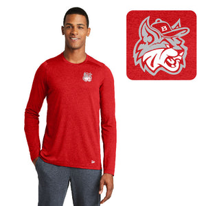 MadCats Baseball – Moisture-Wicking Long Sleeve Tee (Scarlet Red)
