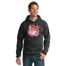 Load image into Gallery viewer, MadCats Baseball – Fleece Pullover Hooded Sweatshirt (Dark Heather Grey)