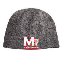 Load image into Gallery viewer, MADISON HS BASEBALL – Heathered Knit Beanie (Heather Grey)