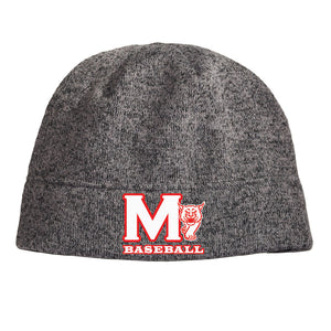 MADISON HS BASEBALL – Heathered Knit Beanie (Heather Grey)