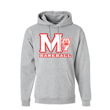 Load image into Gallery viewer, MADISON HS BASEBALL – Cotton Pullover Hooded Sweatshirt (Light Steel)