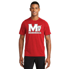 Load image into Gallery viewer, MADISON HS BASEBALL – Performance Crew Tee (Scarlet Red)