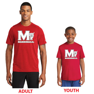 MADISON HS BASEBALL – Performance Crew Tee (Scarlet Red)