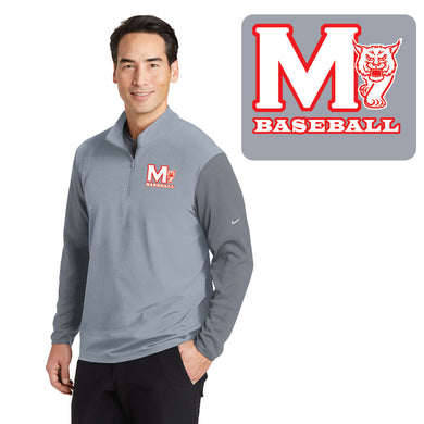 MADISON HS BASEBALL – NIKE Dri-FIT Fabric Mix 1/2-Zip Cover-Up (Cool Grey/Dark Grey)