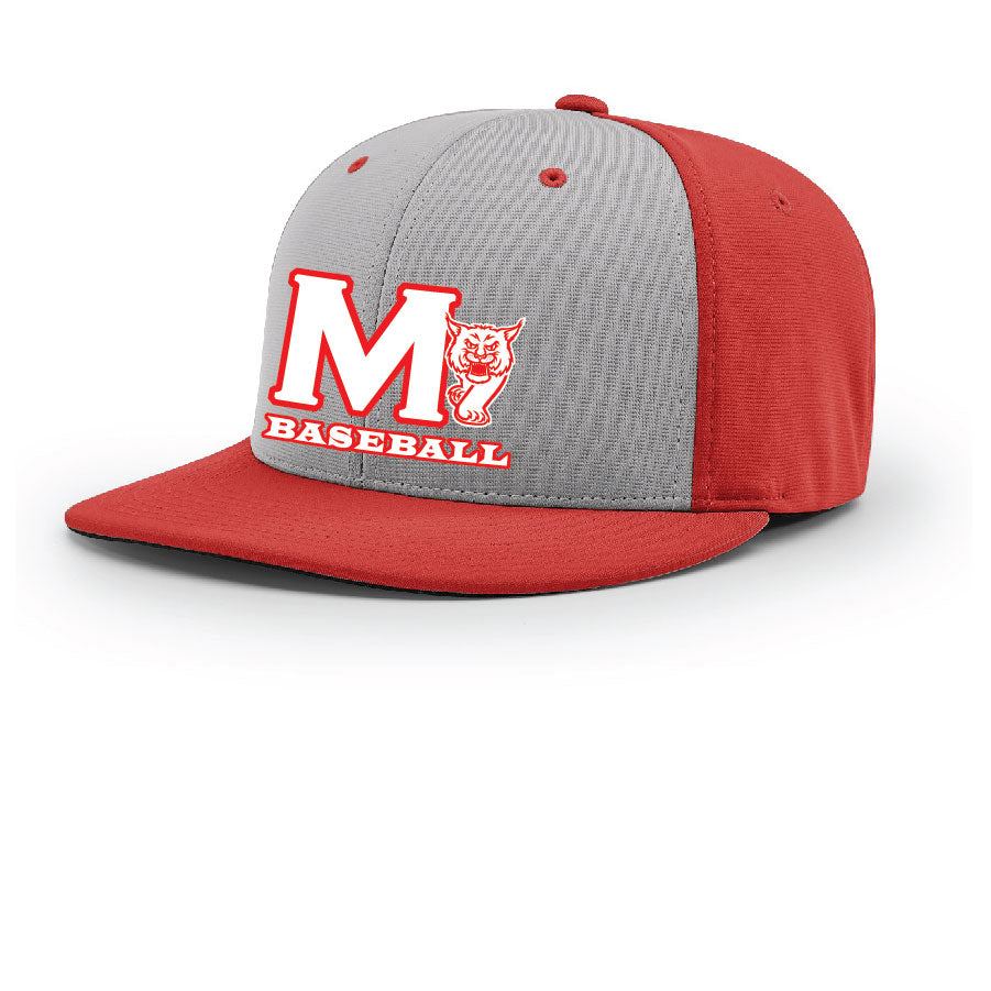 MADISON HS BASEBALL – Pulse R-Flex Hat (Grey/Red)