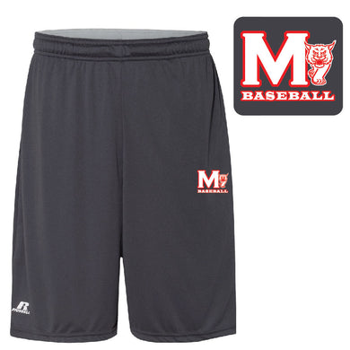 MADISON HS BASEBALL – 10-in. Shorts with Pockets (Steel Grey)
