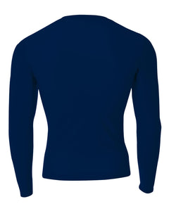 GRIZZ GRID KID – Long Sleeve Compression Crew (Navy)