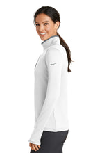 Load image into Gallery viewer, TRHS SOFTBALL – NIKE Ladies Dri-FIT Stretch 1/2-Zip Cover-Up (White/Dark Grey)