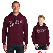 Load image into Gallery viewer, RIGBY HS BASEBALL – Heavy Blend Hooded Sweatshirt (Maroon)