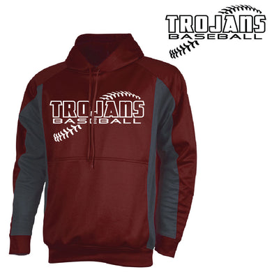 RIGBY HS BASEBALL – Tonix Hooded Fadeaway Jacket (Maroon/Graphite)