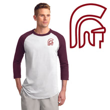 Load image into Gallery viewer, RIGBY HS – Maroon LC Trojan Colorblock Raglan Jersey (Maroon/White)