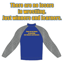 Load image into Gallery viewer, RIRIE WRESTLING – **SPECIAL ORDER**1/4-Zip Pullover (Royal Blue/Grey)