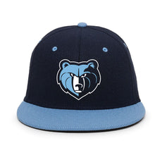 Load image into Gallery viewer, SKYLINE HS BASEBALL – OC Sports Navy Hat with Columbia Bill with Detailed Grizzly Head