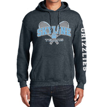 Load image into Gallery viewer, SKYLINE HS TENNIS – Heavy Blend Hooded Sweatshirt (Dark Heather Grey)
