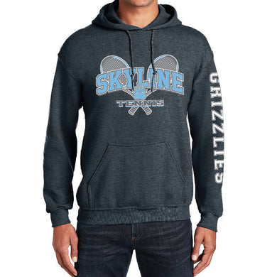 SKYLINE HS TENNIS – Heavy Blend Hooded Sweatshirt (Dark Heather Grey)