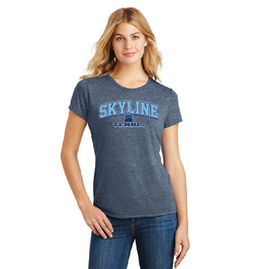 SKYLINE HS TENNIS – Women's Perfect Tri Tee (Navy Frost)