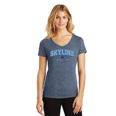 SKYLINE HS TENNIS – Women's Perfect Tri V-Neck Tee (Navy Frost)