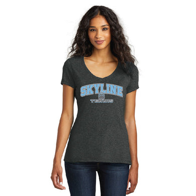SKYLINE HS TENNIS – Women's Perfect Tri V-Neck Tee (Black Frost)