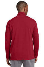 Load image into Gallery viewer, IF LAX – Sport-Wick Textured 1/4-Zip Pullover (Deep Red)