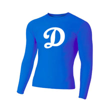 Load image into Gallery viewer, SUGAR-SUGAR HS BASEBALL – A4 Long Sleeve Compression Crew (Royal)