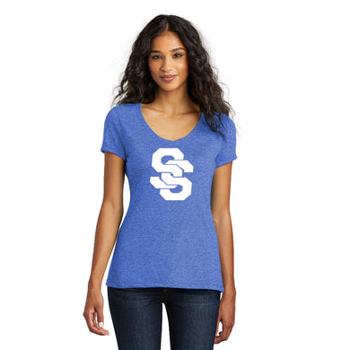 SUGAR-SALEM HS – Women's Perfect Tri V-Neck Tee (Royal Frost)