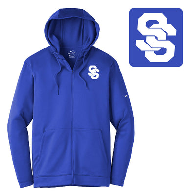 SUGAR-SALEM HS BASEBALL – NIKE Therma-FIT Full-Zip Fleece Hoodie (Royal)