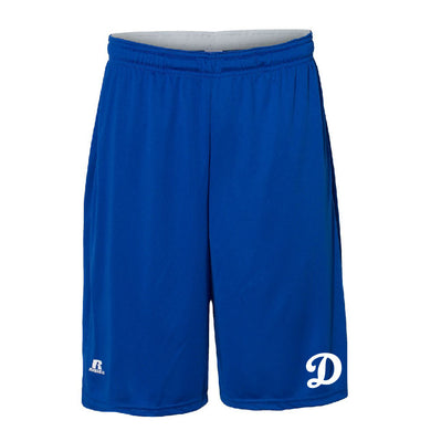 SUGAR-SALEM HS BASEBALL – 10-in. Shorts with Pockets (Royal)